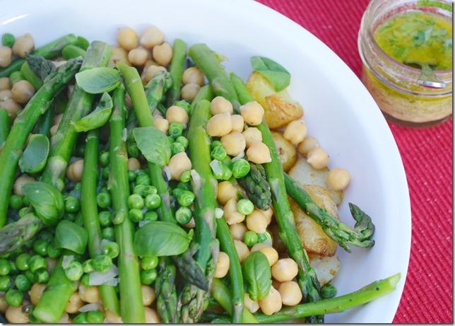 ... New Potato, Asparagus + Chickpea Salad with Lemon Basil Vinaigrette