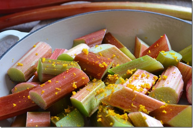 Stewed Rhubarb with Orange