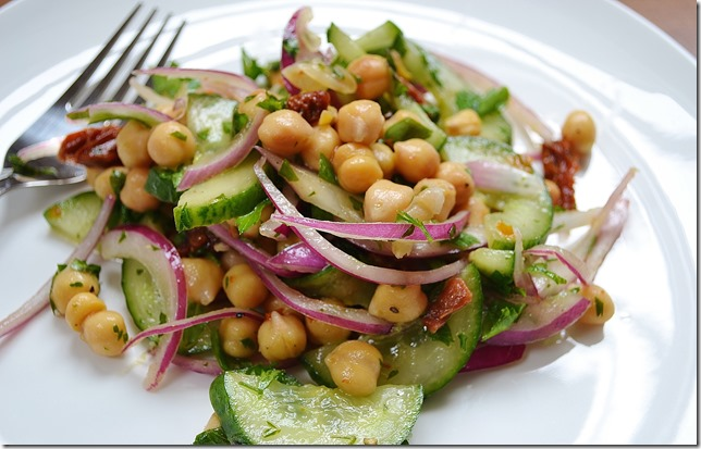 Chickpea Salad with Cucumber, Parsley + Sun-dried Tomatoes ...