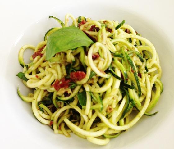 "Courgette ""Spaghetti"" Salad, The Green Rocket Café"