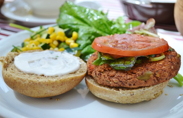 Mediterranean Bean Burgers (Let Them Eat Vegan)