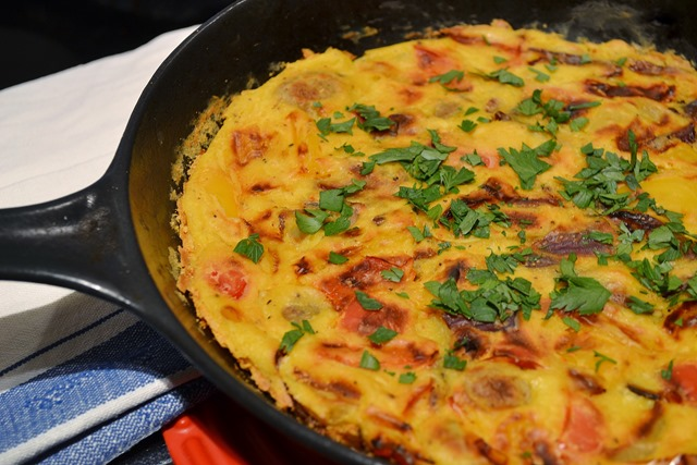 Vegan Roasted Vegetable Frittata