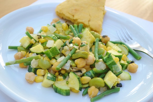 Summer Vegetable + Chickpea Sauté