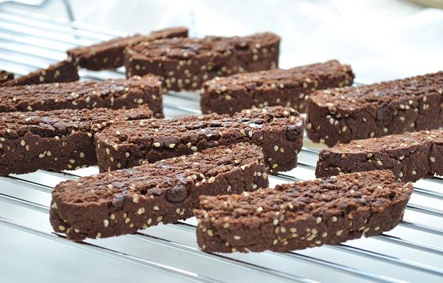 Chocolate-Sesame Biscotti