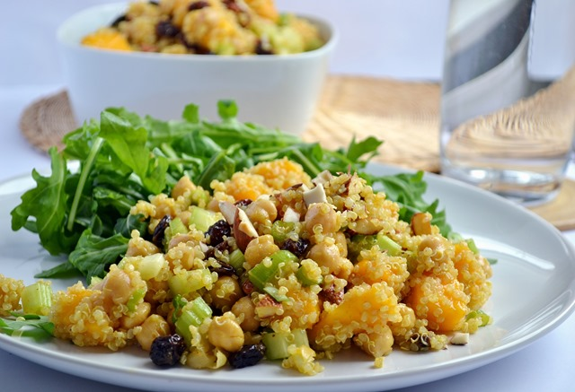 Curried Chickpea, Mango & Quinoa Salad