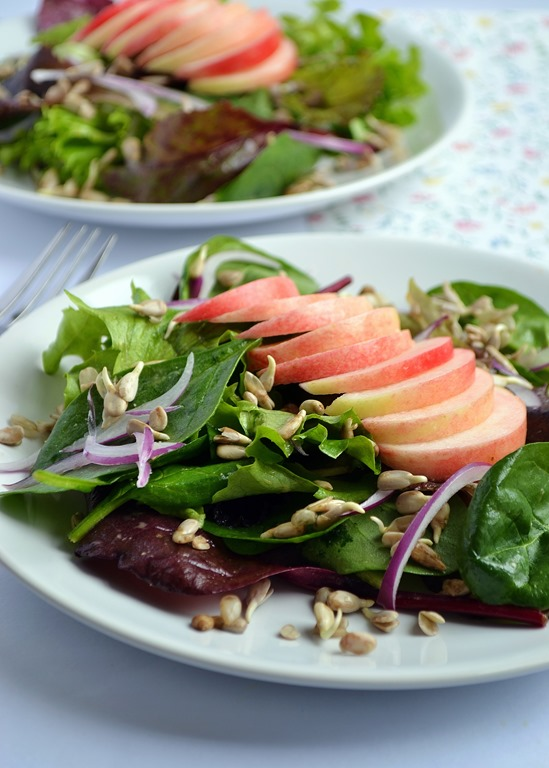 Crisp Salad With Sprouts & Miso-Lemon Dressing Recipes — Dishmaps