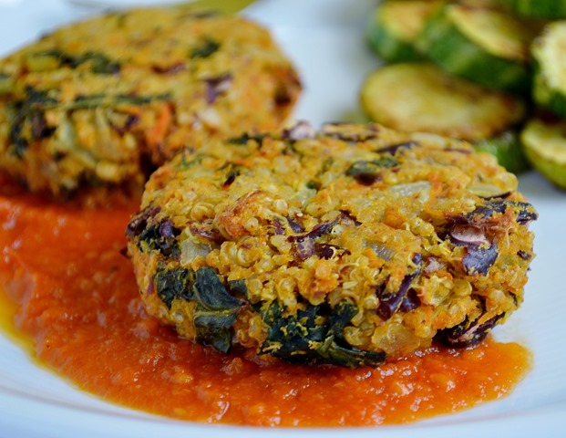 Kidney Bean, Sweet Potato + Quinoa Patties