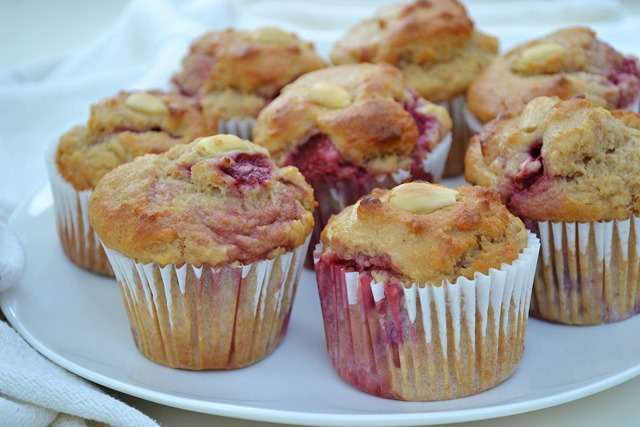 Strawberry-Almond Amazake Muffins