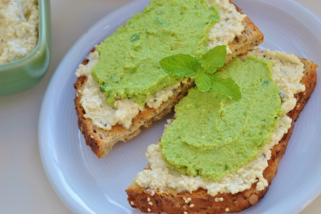 Avocado And Edamame (Soy Bean) Spread On Toast Recipes — Dishmaps
