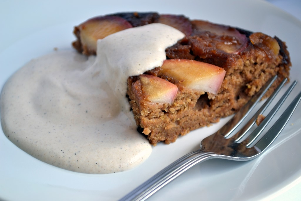 Caramel Apple Upside Down Cake (with Vanilla Bean Cashew ...