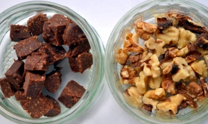 Raw Fudge Chunks, Walnuts