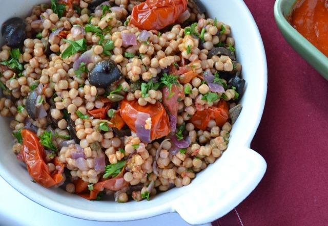 Mediterranean Israeli Couscous Pilaf