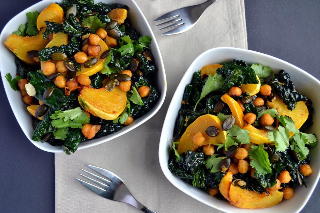 Butternut Squash, Lentil & Kale Salad With Tahini Dressing Recipes ...