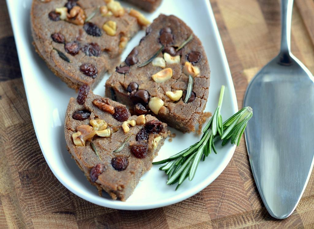 Castagnaccio (Italian Chestnut Cake), Vegan & Gluten-Free