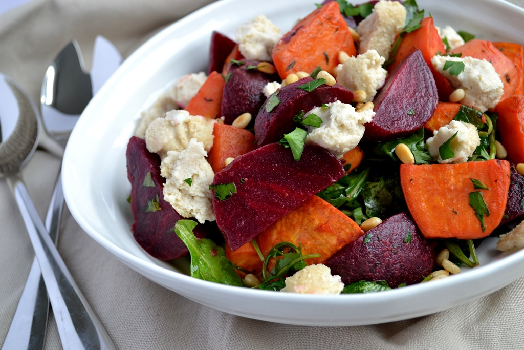 recipe: roasted beets and sweet potato salad [11]