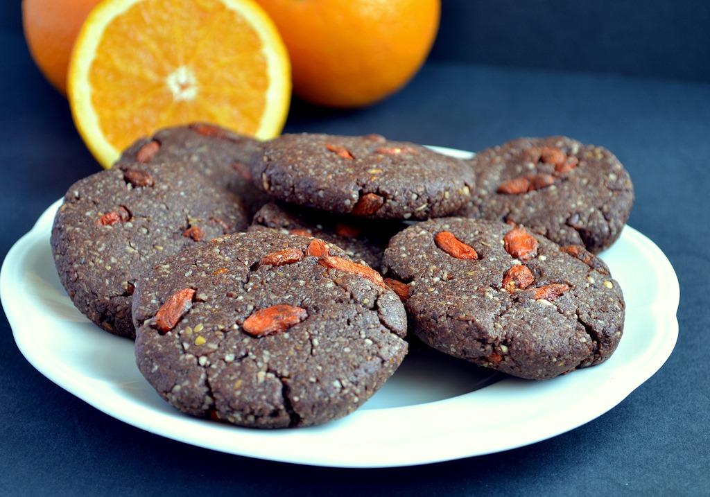 Chocolate Orange Goji Cookies