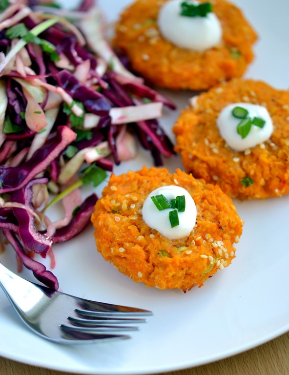 Sweet Potato, Red Lentil & Sesame Patties