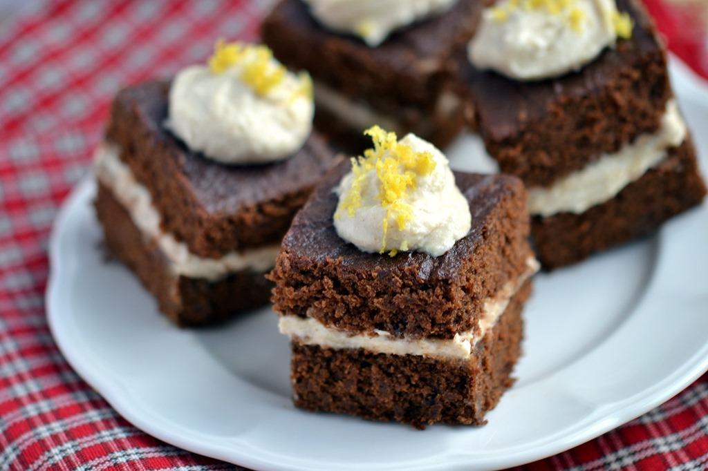 Gingerbread Cake with Lemon Cashew Cream (GF)